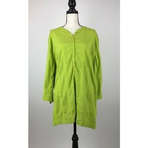 Liz & Me Womens Blouse Top 5X 34W Green B20-10Z